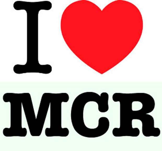I love manchester logo  I MCR